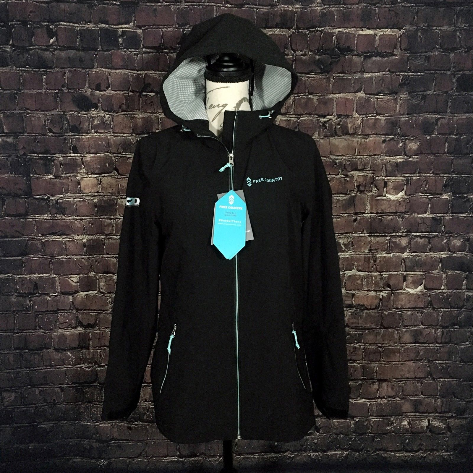 Free Country Women's Roam X2O Softshell Lightweight Hooded Jacket BLACK - Small