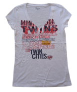 MLB  Woman's Minnesota Twins WORD White Tee with  City Words XL - $15.99