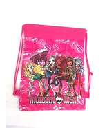 Monster High Girls Pink Drawstring Backpack Sling Tote New! More Charact... - $6.25