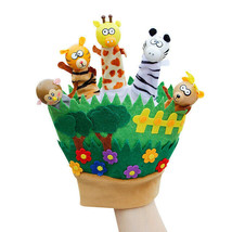 Fairy Tale Animal Finger Puppet Glove Plush Toy for Babies & Kids Storyt... - $13.50
