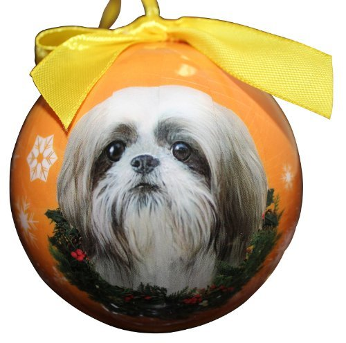 Primary image for Shih Tzu Christmas Ornament Shatter Proof Ball Easy To Personalize A Perfect Gif