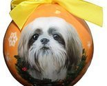 Shih Tzu Christmas Ornament Shatter Proof Ball Easy To Personalize A Perfect Gif