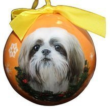Shih Tzu Christmas Ornament Shatter Proof Ball Easy To Personalize A Per... - $9.99