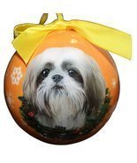 Shih Tzu Christmas Ornament Shatter Proof Ball Easy To Personalize A Perfect Gif - $9.99