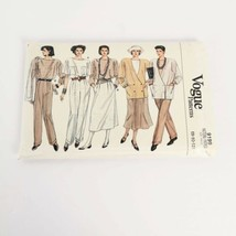 Vogue 9199 Wardrobe Size 8 10 12 Vintage 80s Padded Sewing Pattern Uncut - $16.99