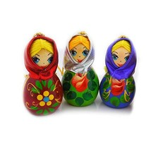 Needzo Assorted Color Hand Carved and Painted Russian Christmas Ornament... - $46.74
