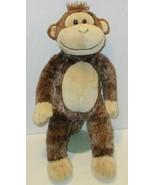 "BUILD A BEAR BROWN MARBLE MONKEY CHIMP APE 18"" STUFFED ANIMAL PLUSH DOLL... - $12.99"