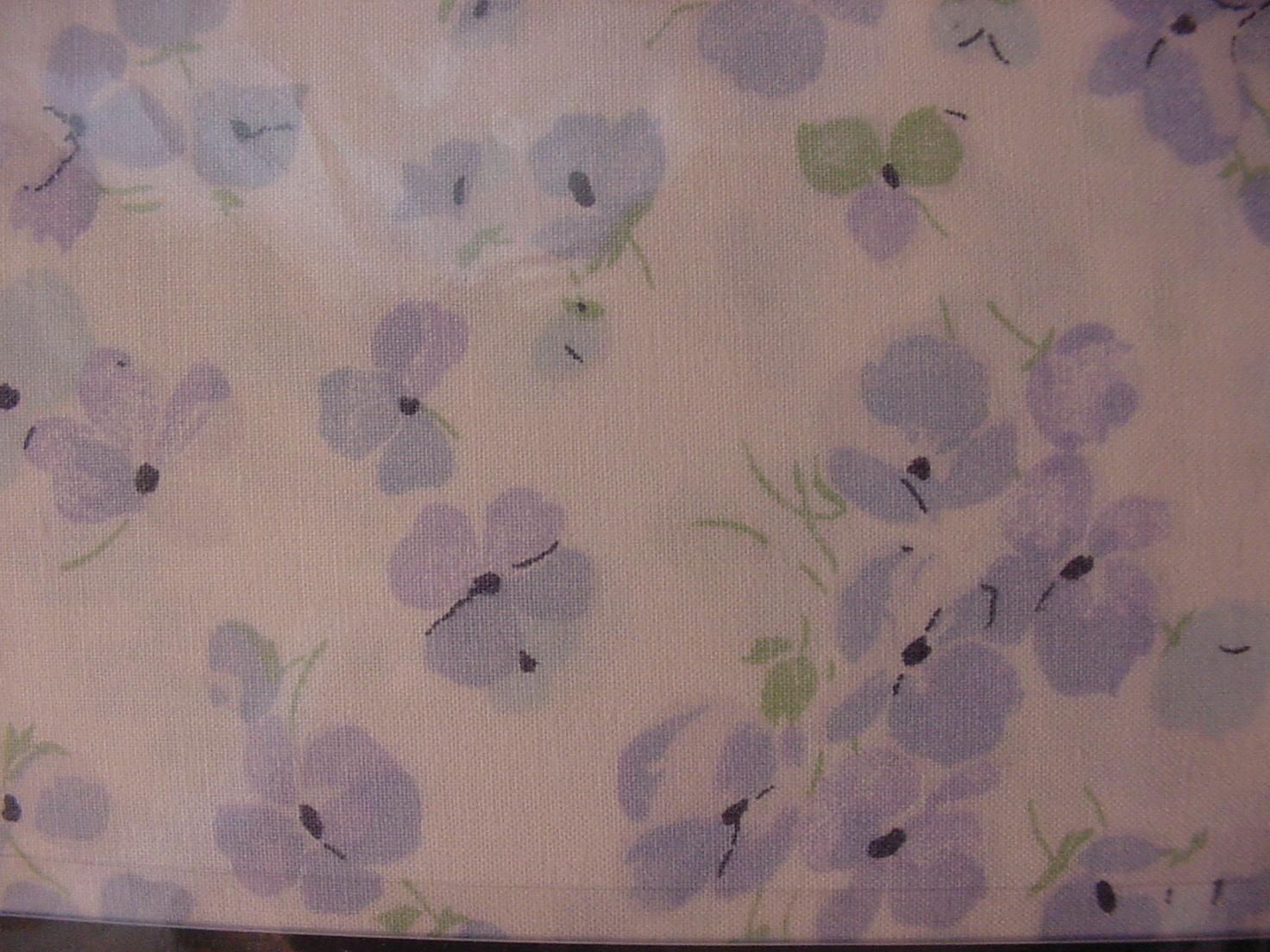 Ralph Lauren Lavender/Blue Violets Country Cottage Floral Sheet Set Queen