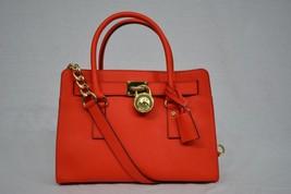 NWT Michael Kors EW Hamilton Saffiano Leather Satchel Bag in Mandarin - $259.00