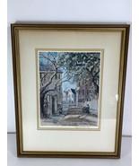 Elizabeth O'Neill Verner Lower Church Street Print Signed & Framed Charl... - $197.99