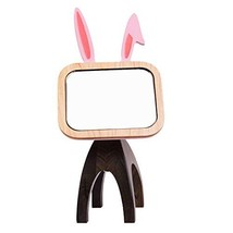 Vanity Makeup Mirror with 360 Degree Swivel,Rabbit Shape - $45.02