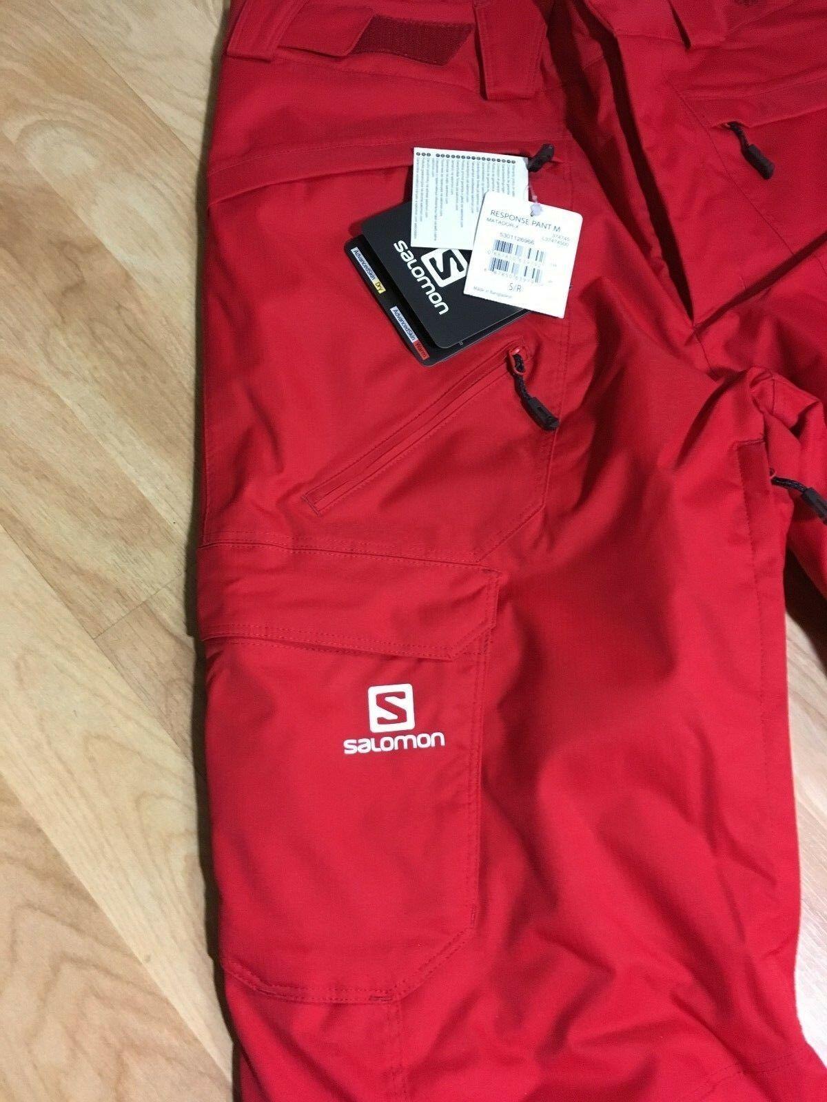 Salomon Response Ski Snowboard Pants Unisex, Size XS or S, Red, NEW image 4