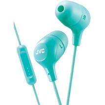 JVC HAFX38MG Marshmallow Inner-Ear Headphones with Microphone (Green) - $30.71