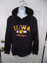 Iowa Hawkeyes Black Hoodie Hooded Sweatshirt Size S Women's EUC - $22.25
