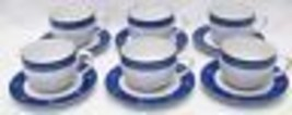 Set (6) Dansk Nine Patch Pattern Cups And Saucers - $39.59
