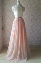 Blush Pink Full Long Tulle Skirt Blush Wedding Tulle Skirt Bridesmaid Outfit image 6