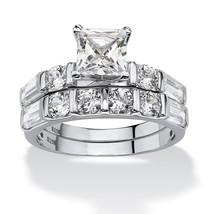 PalmBeach Jewelry Cubic Zirconia Platinum over .925 Sterling Silver Wedd... - $36.39