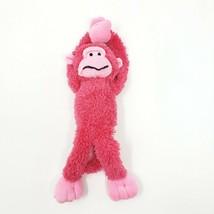 """Dan Dee  Monkey Stuffed Plush Hanging Small 11"""" Pink - $9.89"""