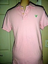 AMERICAN EAGLE VINTAGE FIT PINK COTTON KNIT POLO SHIRT SZ XS/TP - $241,54 MXN