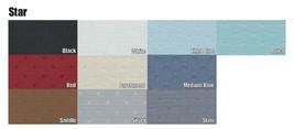 1964-1965 CHEVELLE SUNVISORS, STAR PATTERN, 10 COLORS - $158.80