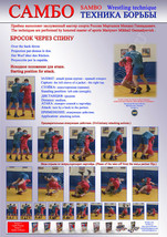 3.Sambo wrestling poster. Self-adhesive glossy paper. A4-210x297mm - $4.35