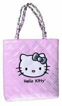 Nuovo Sanrio Hello Kitty Rosa Sera Borsetta Coco Trapuntato Viso Vernice Nwt
