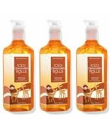 3 Bath & Body Works Iced Cinnamon Rolls Gentle Gel Hand Soaps w/Essentia... - $28.04