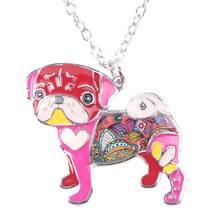 Necklaces Pendant Dog Pug Animal Zinc Alloy New Female Fashion Jewelry Accessory image 5