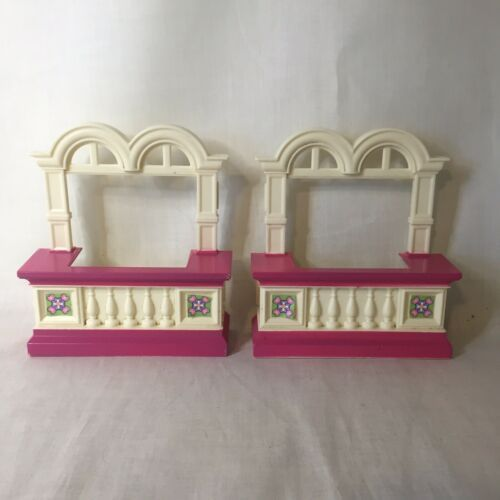 Primary image for 2 Loving Family Grand Mansion Window Replacement Part Dollhouse Fisher Price