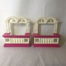 2 Loving Family Grand Mansion Window Replacement Part Dollhouse Fisher P... - $14.84