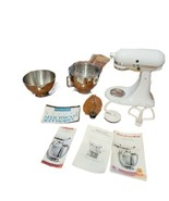 White KitchenAid KSM90 300W Ultra Power Stand Mixer with Accessories - $233.74