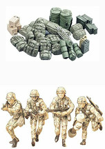 2 Tamiya Military Miniatures Models - Modern U.S. Army Infantry and Equi... - $25.73