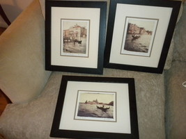 3 Venice Italy Amy Melious photo prints framed & matted Grand Canal; Gon... - $99.99
