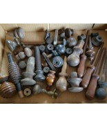Antique Vintage Country / Farm House Wood Parts Pieces Knobs Salvage Upc... - $35.00