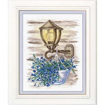 Cross Stitch Kit Hand Embroidery Landscape Flowers - $28.00