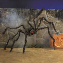 CREEPY Hairy Spider with LED Eyes Halloween Haunted House PROP Party Dec... - $27.49