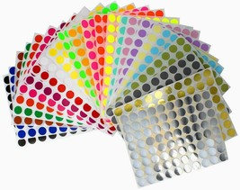 Round Marking Color Coded 13mm Labels 1/2 Inch File Folder Dot Circles 1... - $6.92