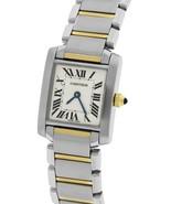 Ladies Cartier Tank Francaise Stainless Roman Swiss Quartz Watch 2300 W5... - $2,293.22