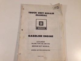 1980 GM Gasoline Engine Truck Unit Repair Manual 6 Cylinder 4.8L Medium ... - $14.99