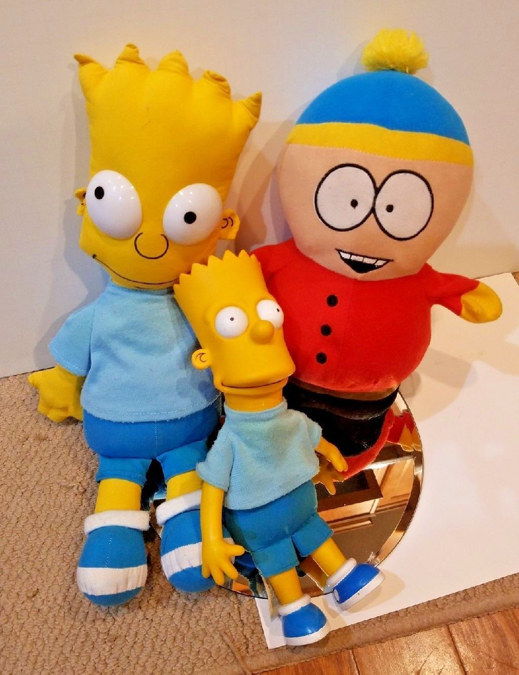 Bulk Plush Lot - BART Simpson & Eric Cartman South Park Simpsons toy doll plush - $28.72