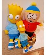 Bulk Plush Lot - BART Simpson & Eric Cartman South Park Simpsons toy dol... - $28.72