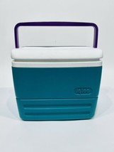 Vintage 1990's Igloo Polar Six Cooler Purple/Teal/White 6 Pack Neon - $24.74