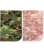 Camouflage Infant Receiving Baby Thermal Waffle Knit Cotton Warm Blanket - $9.99