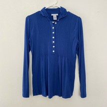 Soft Surroundings Petite XS 1/2 Button Pullover Jersey Knit Long Sleeve ... - $23.99