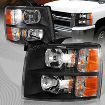 For 2007-2013 Chevy Silverado 2in1 Black Housing Headlight W/Amber Reflector - $138.37