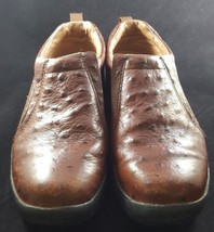 Roper Ostrich Embossed Brown Slip On Performance Sport Loafers Women's U... - $29.99