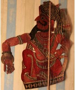 Vintage shadow puppet indian 19th century original leather collectible p... - $393.24