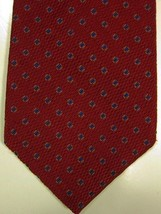 NEW $125 Robert Talbott Red With Small Blue Squares Silk Tie - $37.49