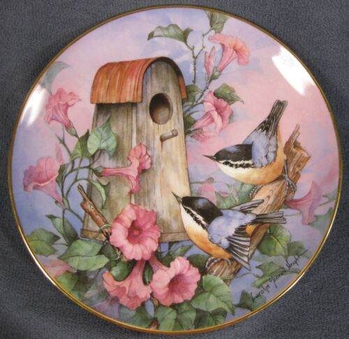 Royal Doulton Nuthatch Nook Collector Plate Carolyn Shores Wright Franklin Mint