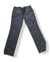 New York and Company Women's Size 6 Pants Stretch Straight Dark Blue Cotton - $14.36